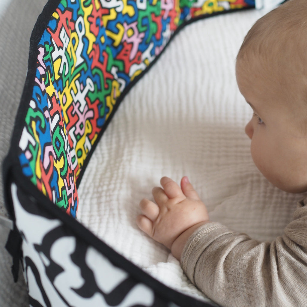 ETTA LOVES x KEITH HARING Tummy time sensory play toy