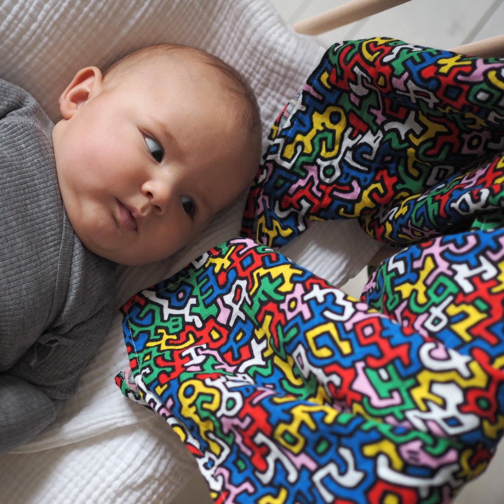 ETTA LOVES x KEITH HARING - XL muslin for sensory play 5+ months