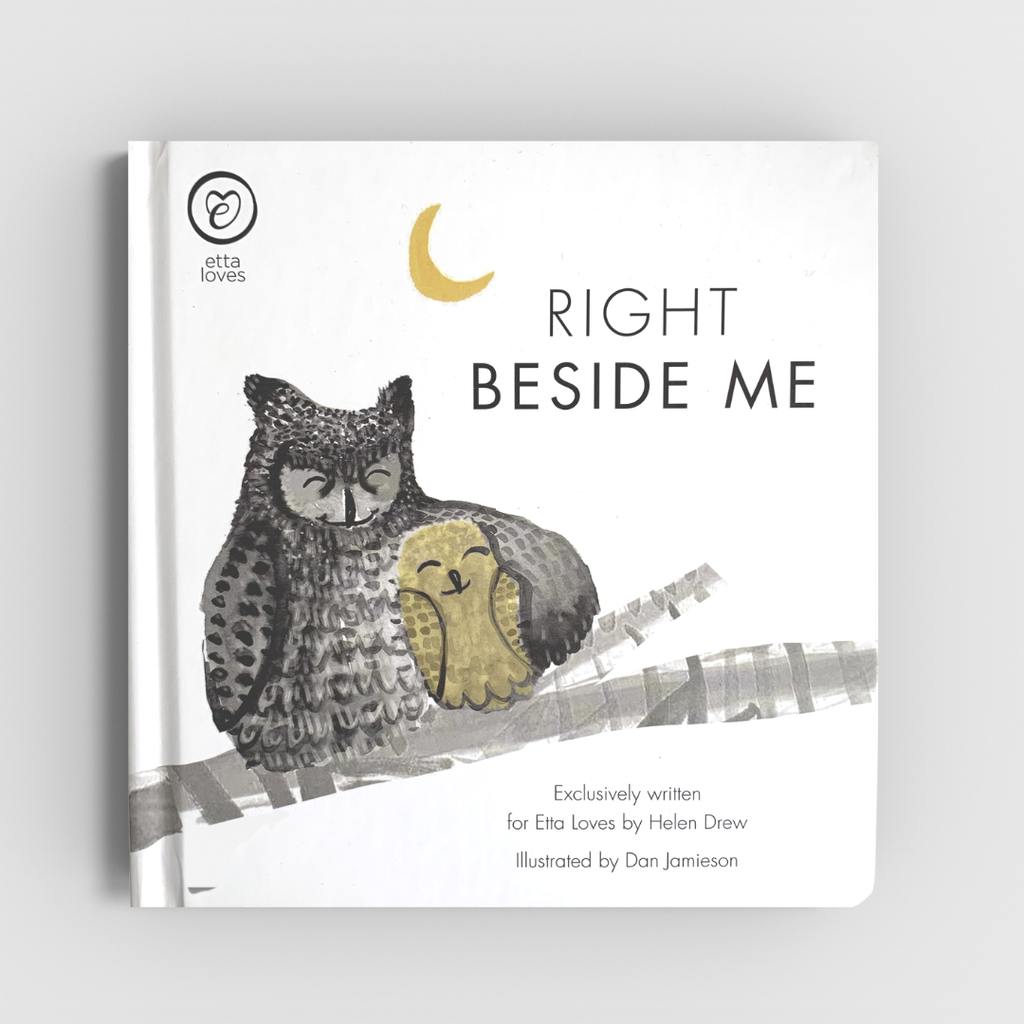 newborn bedtime story book - Right Beside Me - Etta Loves