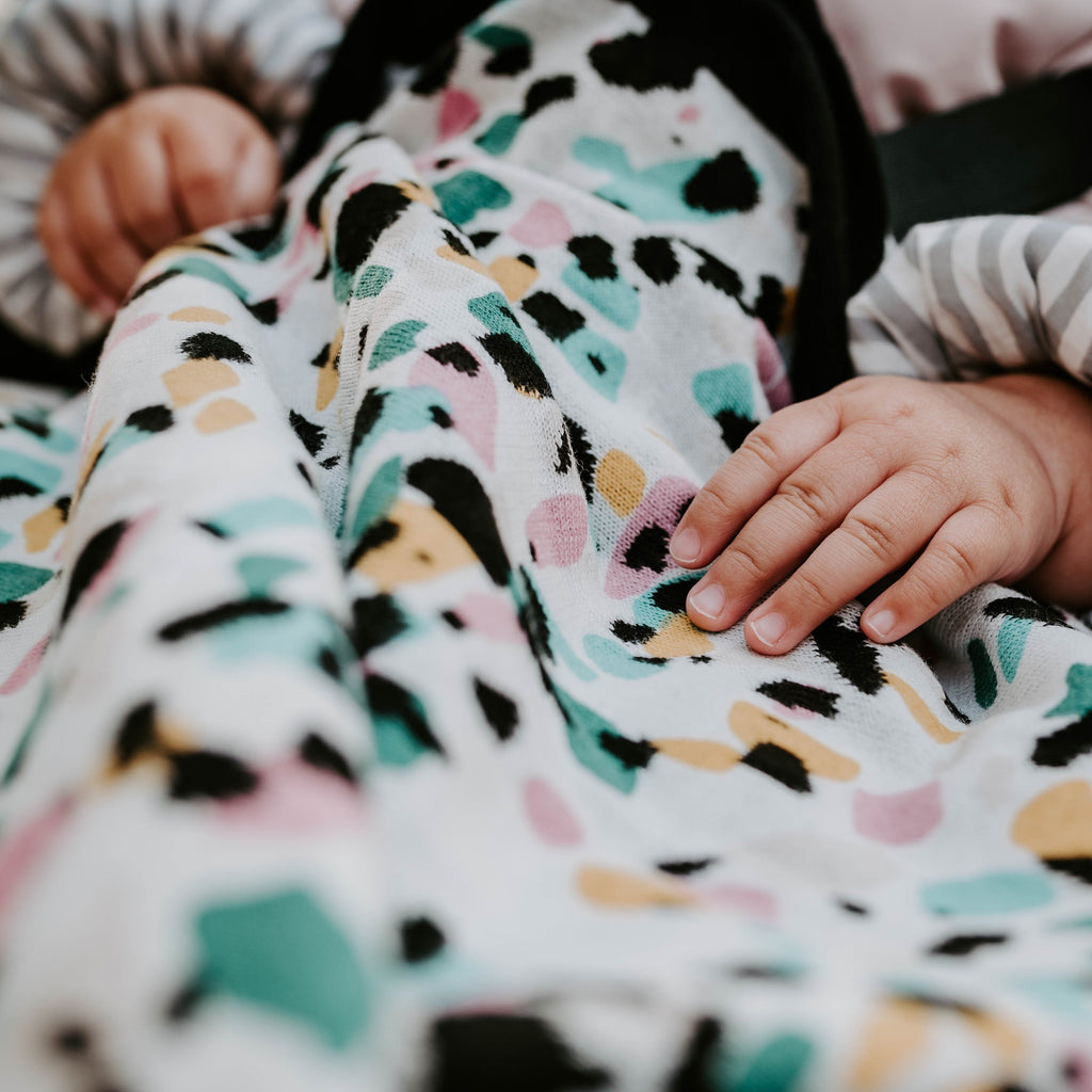 TERRAZZO KNITTED BLANKET - for 5+ month old babies