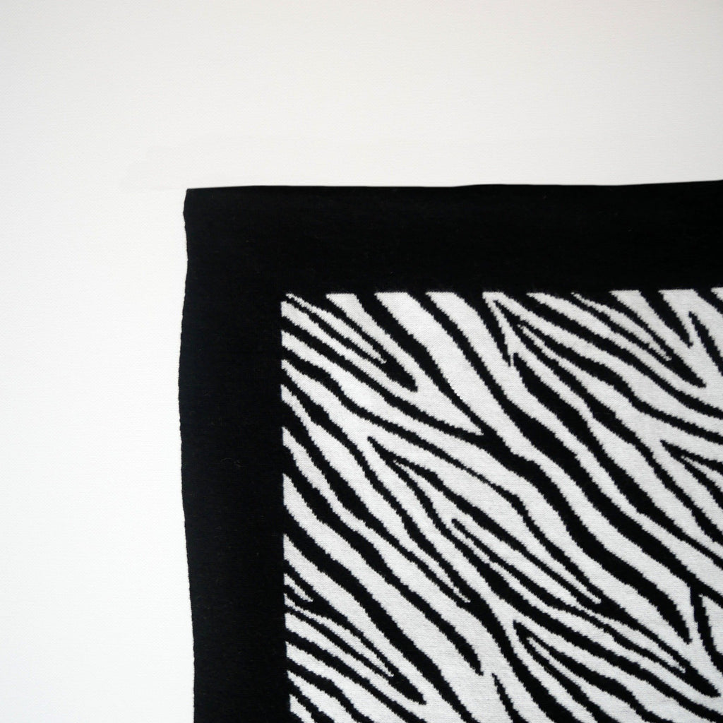 ZEBRA BABY KNITTED BLANKET - for 0 to 4 month old babies