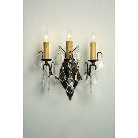 Charlotte Bronze 3 Arm Wall Light 043/3W-BZ-32-34