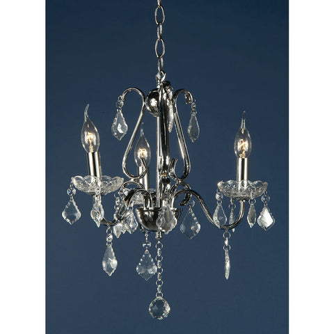 Lucienne Chrome 3 Arm Chandelier 073/3H-CH-37-49