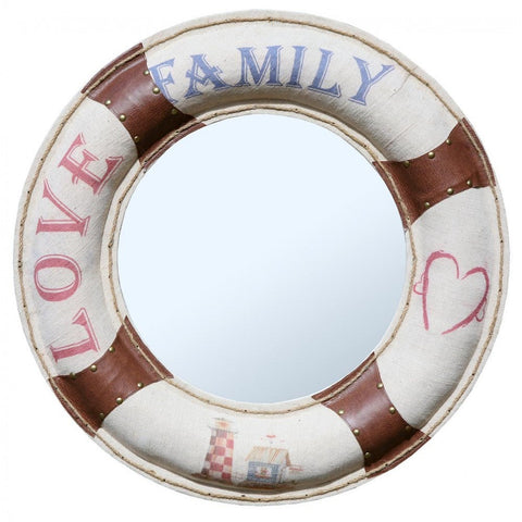 Family Love Life Ring Nautical Vintage Framed Mirror 1R-0053