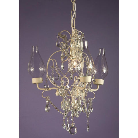 Cream Crack Body Glass Bottle Shade 3 Arm Crystal Chandelier 8096/3&1H-CC