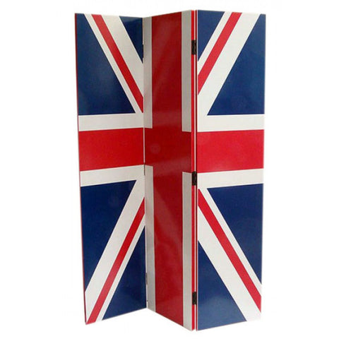 London Calling Union Jack 3 Panel Room Divider Screen 9M28-928