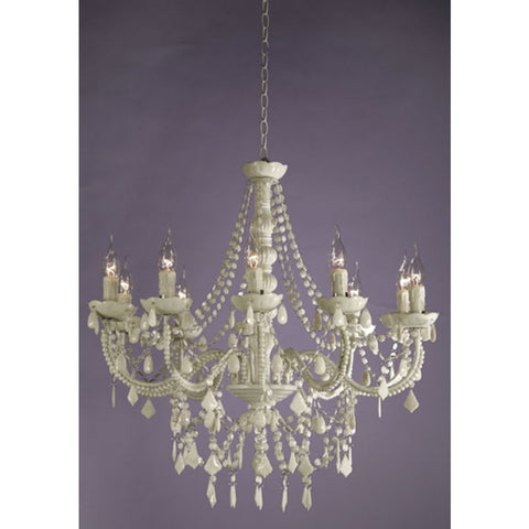 Suzanne Pure White 10 Arm Chandelier ACH8039/10H-WH