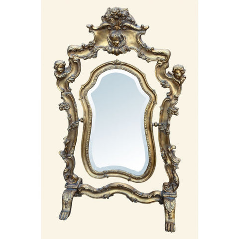 Gold Gilt Leaf  Swing Table Bevelled  Mirror C165-GO