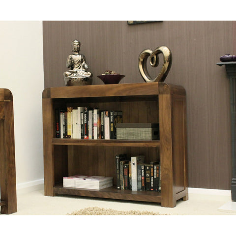Shiro Walnut Low Bookcase CDR01B