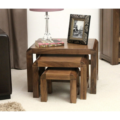 Shiro Walnut Nest of 3 Coffee Tables CDR08A