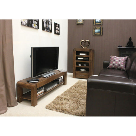 Shiro Walnut Low TV Cabinet CDR09A