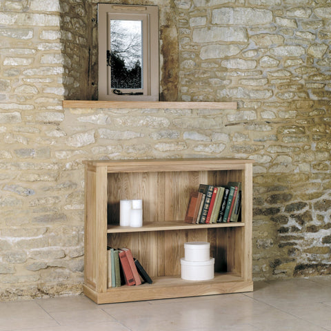 Mobel Oak Low Bookcase COR01B