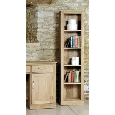 Mobel Oak Narrow Bookcase COR01D