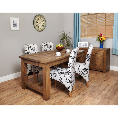 Heyford Rough Sawn Oak Dining Table (4 Seater) CRS04A