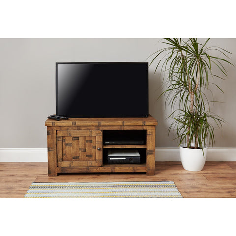 Heyford Rough Sawn Oak One Door Television Cabinet CRS09A