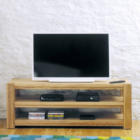 Aston Oak Widescreen Open Television Cabinet CVR09A