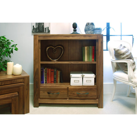 Mayan Walnut Low Bookcase CWC01B