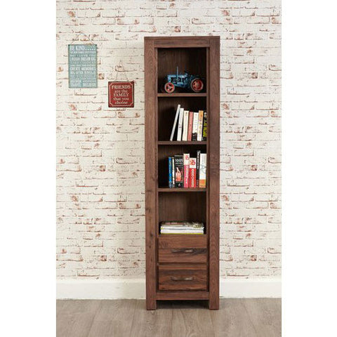 Mayan Walnut Narrow Bookcase CWC01F