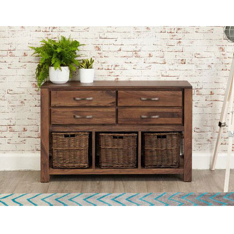 Mayan Walnut Console Table CWC02D