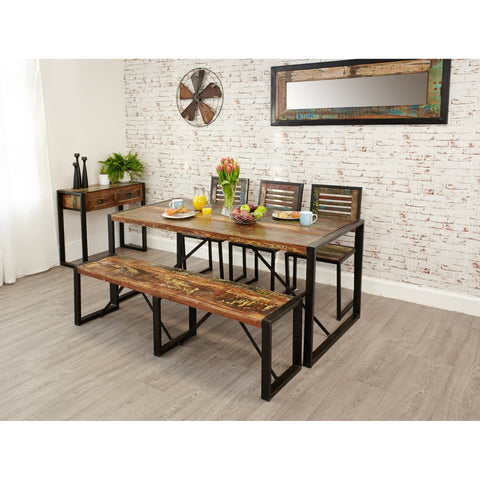 Urban Chic Handmade Reclaimed Wood Large Heavy Duty Dining Table IRF04B