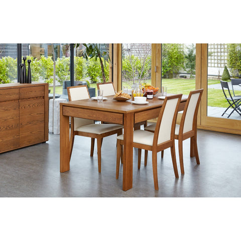 Olten - Extending Dining Table with drawer in Oak Finish VDC04C