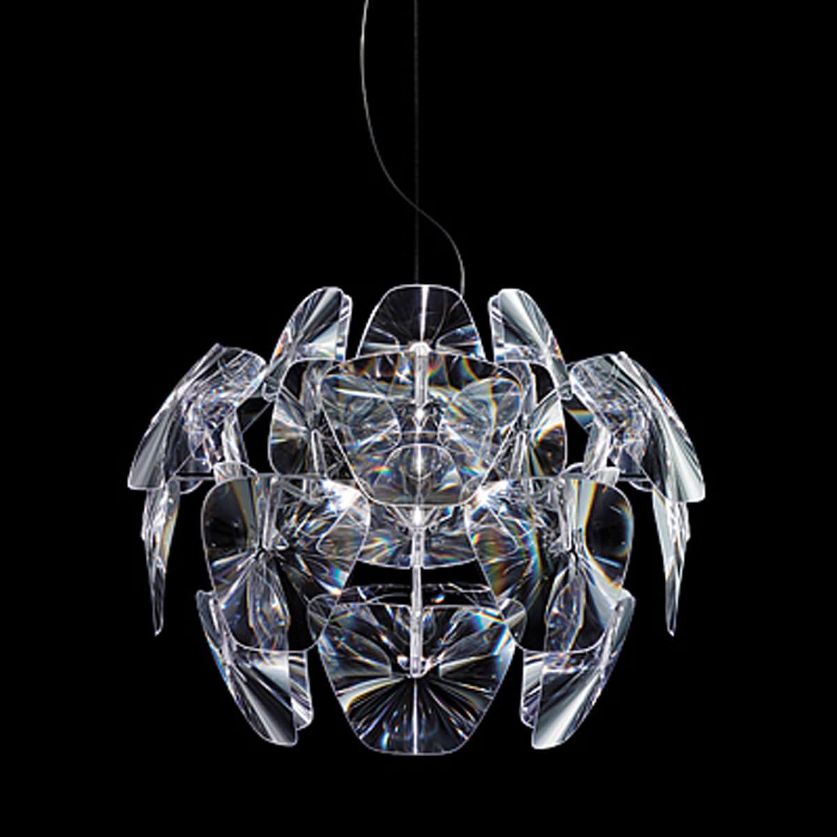 Azzardo 3d small clear acrylic pendant light chandelier more dcor acrylic pendant light chandelier md2091 3 hover to zoom aloadofball Images
