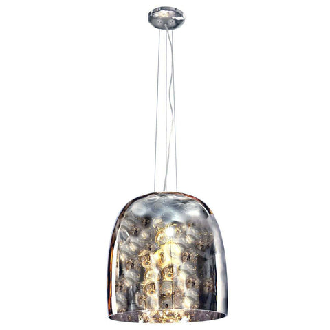 Azzardo Bob Smoked Silver Grey Glass Pendant Light MD5152-SM