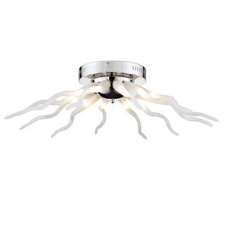 Azzardo Octopus 12 Light Chrome White Arm Ceiling Light MX-6170-12