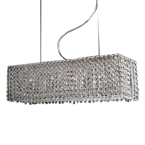 Azzardo Roma 8 Light Rectangle Box Crystal Chandelier MD-2116B-8