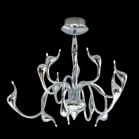 Azzardo Snake 12 Light Chrome Silver Ceiling Light MD-6230-12-CH