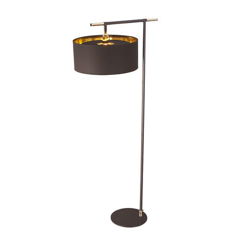 Elstead Balance 1 Light Brown/Polished Brass Floor Lamp BALANCE/FL BRPB