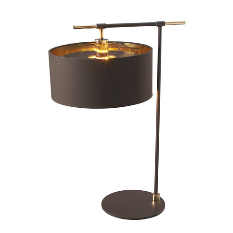 Elstead Balance 1 Light Brown/Polished Brass Table Lamp BALANCE/TL BRPB