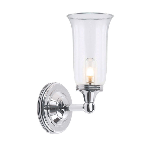 Elstead Austen 1 Light Fluted Glass Polished Chrome Wall Light BATH/AUSTEN2 PC