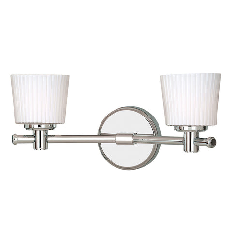 Elstead Binstead 2 Light Polished Chrome Wall Light BATH/BN2