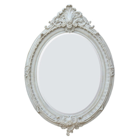 Antique French Style Marbeline Rococo Oval Bevelled Wall Mirror CFR006-MM-107-153