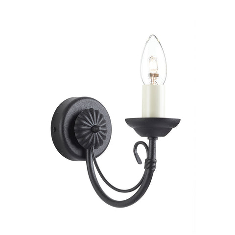 Elstead Chartwell 1 Light Black Wall Light CH1 BLACK