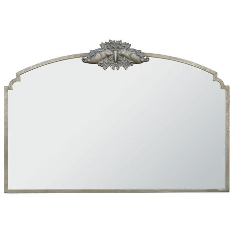 Woodland Crest Rabbit Overmantle Mirror in Silver CMM202-SL