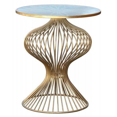 Gin Shu Parisienne Gold Metal Round Side Table CMT018