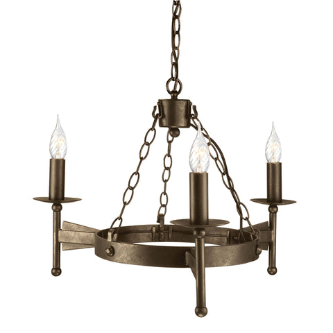 Elstead Cromwell 3 Light Old Bronze Candle Chandelier CW3 OLD BRZ