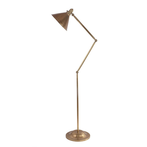Elstead Provence 1 Light Aged Brass Vintage Floor Lamp PV/FL AB