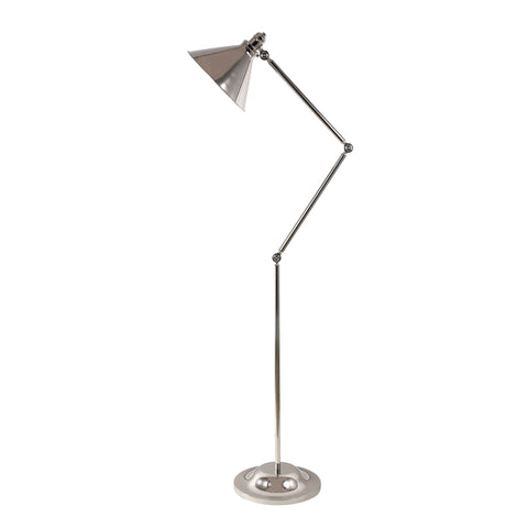 Elstead Provence 1 Light Nickel Vintage Floor Lamp PV/FL PN
