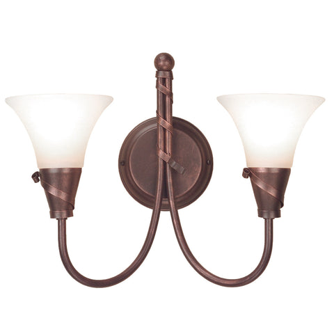 Elstead Emily 2 Light Copper Patina Wall Light EM2 COPPER