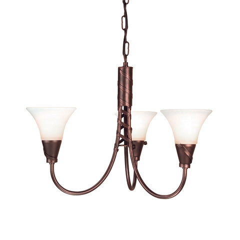 Elstead Emily 3 Light Copper Patina Chandelier EM3 COPPER
