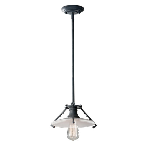 Feiss Urban Renewal 1 Light Weathered Zinc Pendant Light FE/URBANRWL/P/C