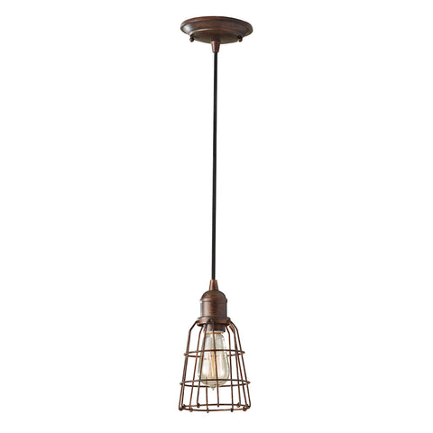 Feiss Urban Renewal 1 Light Parisian Bronze Pendant Light FE/URBANRWL/P/D