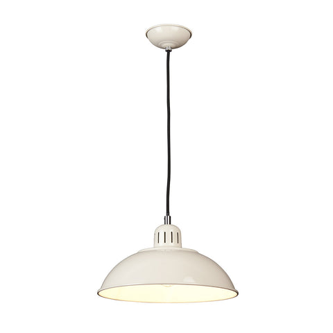 Elstead Franklin 1 Light Cream Pendant Light FRANKLIN/P CR