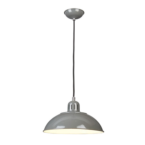 Elstead Franklin 1 Light Grey Pendant Light FRANKLIN/P GY