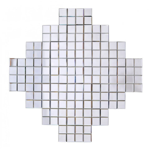 Contemporary Mirrored Prism Mosaic Wall Mirror GJ438-100-100