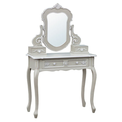 Charmont Gris Grey Console Table with Mirror INT-1005