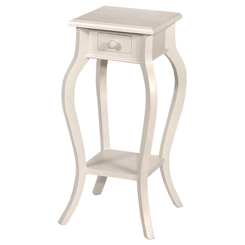 Tono White Telephone Table Small J2146B-TW